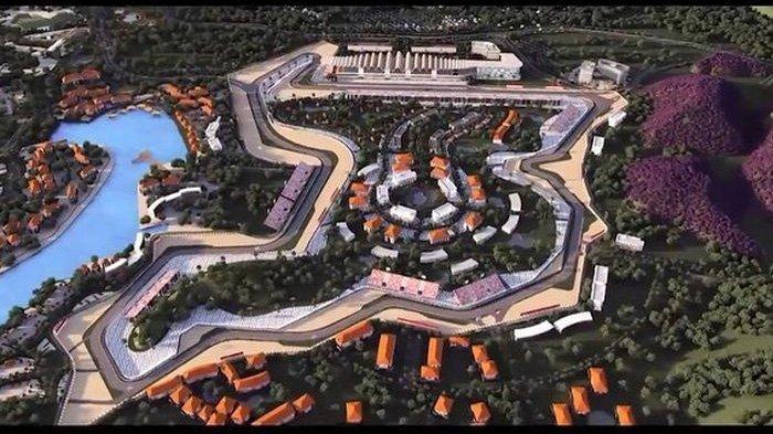 Layout sirkuit Mandalika di Lombok untuk tuan rumah MotoGP 2021.