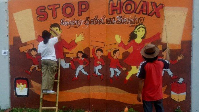 Lewat Mural, KPU DIY Sosialisasikan Pemilu 2019