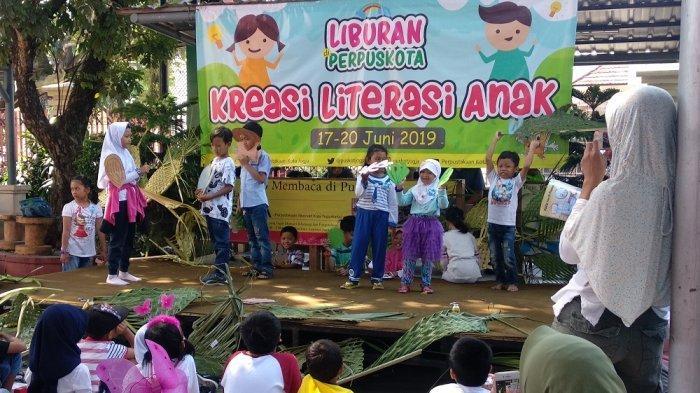 Liburan Sekolah, Dinas Perpustakaan dan Kearsipan Kota Yogyakarta Gelar Literasi Kreasi Anak
