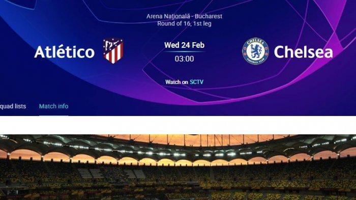 Apa Kata Pelatih Chelsea dan Atlético Jelang Pertemuan Leg I Babak 16 Besar Liga Champions