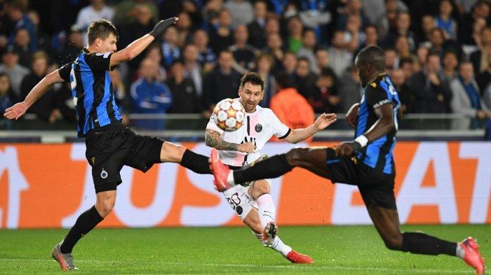 LIGA CHAMPIONS: Skor Messi, Neymar dan Mbappe, Brugge 1-1 PSG