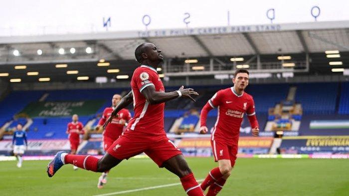 LINK Live Streaming Everton vs Liverpool di Mola Tv - GOOOL Cepat Sadio Mane di Menit 3