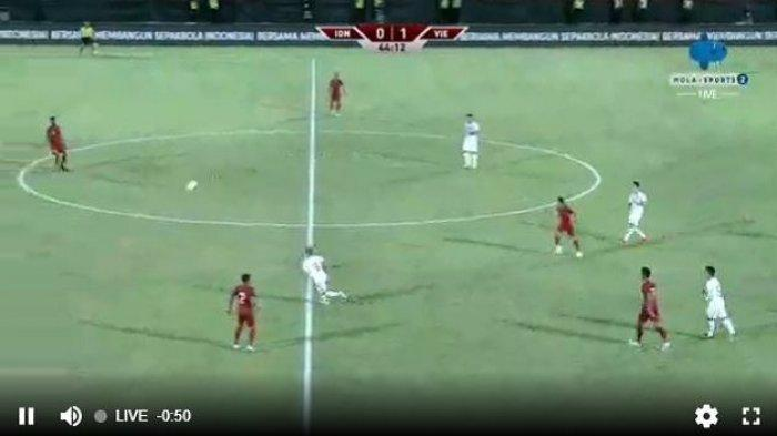 LINK Live Streaming TVRI / Mola Tv Indonesia vs Vietnam BABAK KEDUA, Timnas Senior Tertinggal 0-1