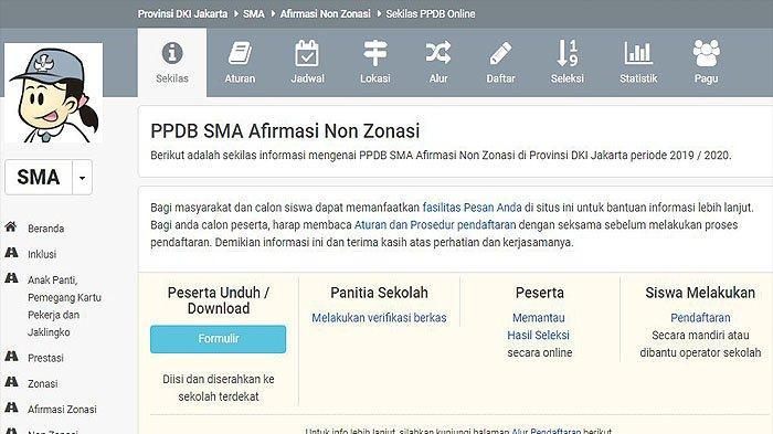 Link Pendaftaran Ppdb Online Sma Jakarta Non Zonasi 2019 Di Ppdb Jakarta Go Id Bisa Diakses 5 Juli Tribun Jogja