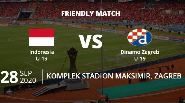 Siaran Langsung Link Live Streaming Timnas U 19 Indonesia Vs Dinamo Zagreb Di Mola Tv Net Tv Tribun Jogja