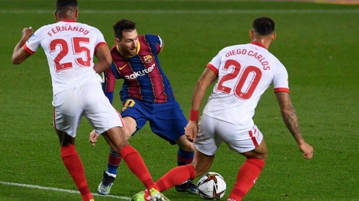 BARCELONA 3-0 SEVILLA: Rating ter Stegen, Pique, Alba, de Jong, Dembele & Messi