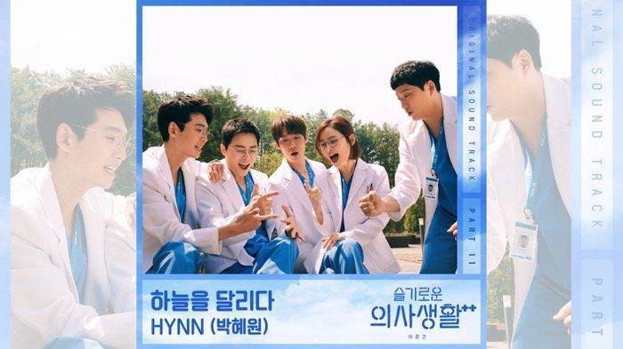 OST Drakor Hospital Playlist 2 Part 11, Berikut Lirik dan Terjemahan Lagu Run Across The Sky - HYNN