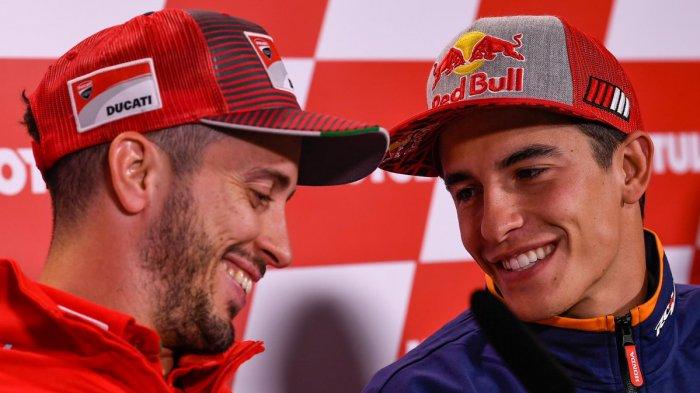 Berita MotoGP 2020: Andrea Dovizioso Akui Marc Marquez Terlalu Kuat untuk Semua Pembalap