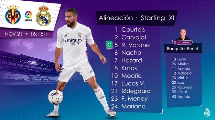 Real Madrid tandang ke markas Villareal