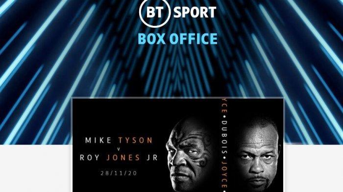 LINK SIARAN LANGSUNG dan Live Streaming Mike Tyson vs Roy Jones Jr Berbayar via Triller.com
