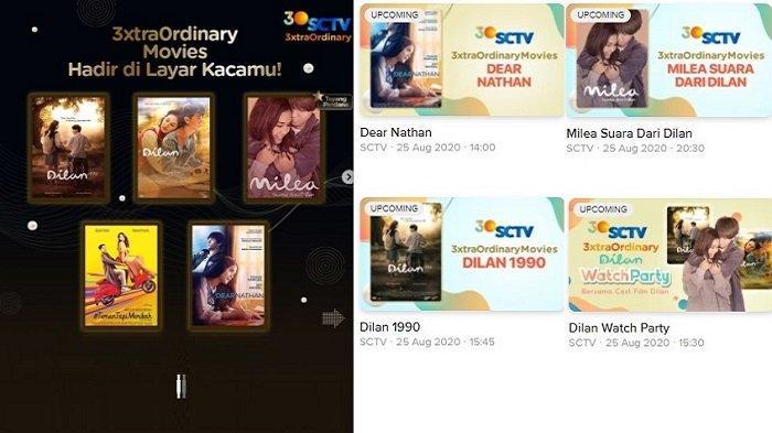 LIVE STREAMING SCTV - Jadwal Acara TV Hari Ini Film Dear Nathan, Dilan 1990, Milea: Suara dari Dilan