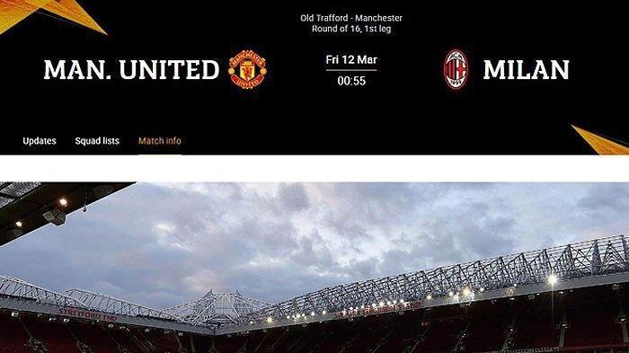 Man United vs AC Milan, Liga Eropa