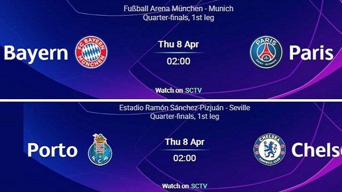 Live Streaming SCTV Vidio Liga Champions: Formasi Line Up BAYERN MUNCHEN vs PSG & PORTO vs CHELSEA