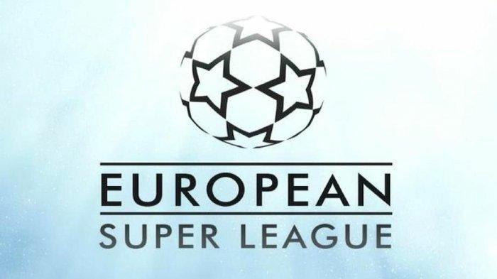 Logo European Super League atau Liga Super Eropa yang digagas sejumlah klub besar Eropa langganan Liga Champions