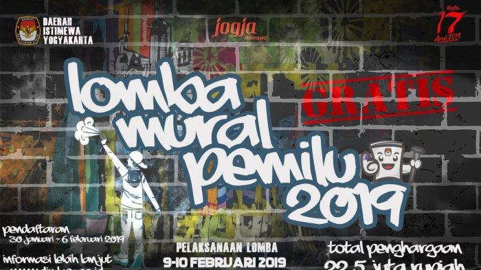 KPU DIY Gelar Lomba Mural Pemilu 2019