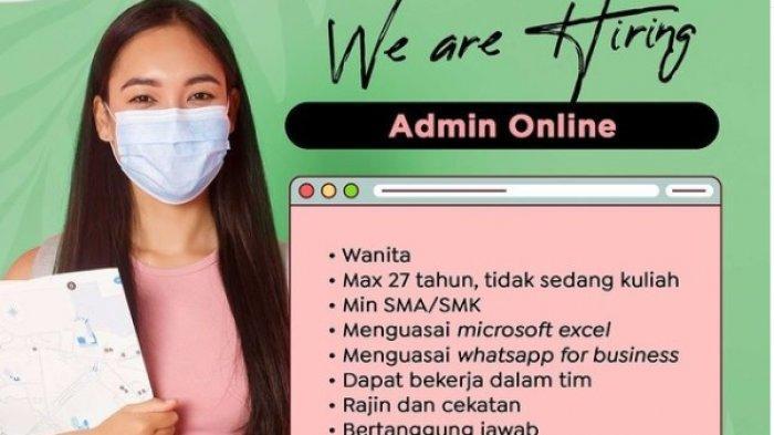 Informasi Lowongan Kerja Jogja untuk Lulusan SMA/SMK - Posisi Admin Online