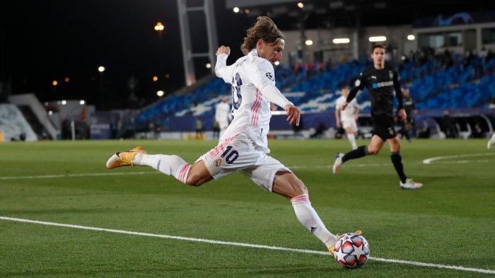 Luka Modric saat Real Madrid vs Borussia Monchengladbach di Liga Champions