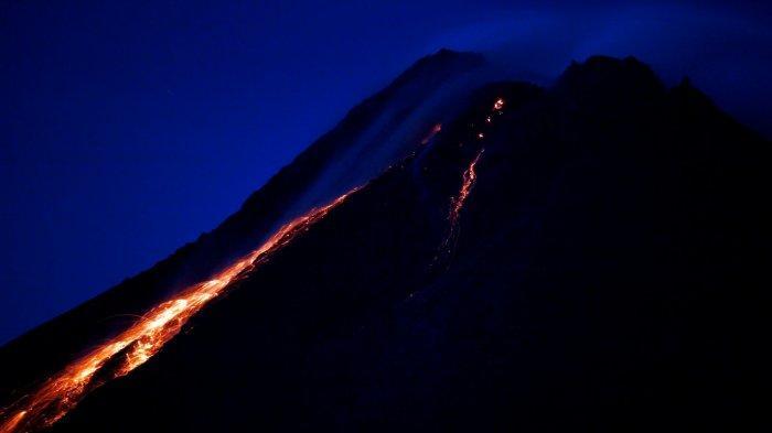 UPDATE Aktivitas Gunung Merapi : Terjadi 10 Kali Guguran Lava Pijar dari Puncak Merapi Pagi Ini