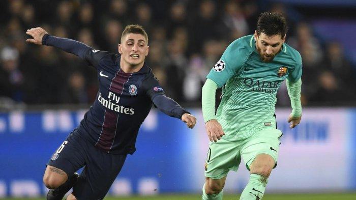 Marco Verratti dan Lionel Messi