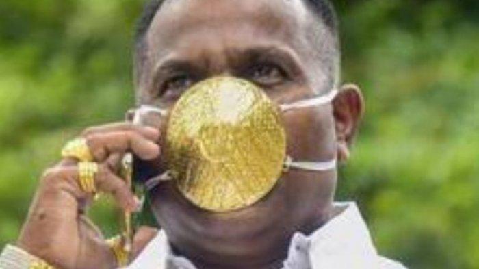 Pengusaha di Amerika Pesan Masker Bertahtakan Berlian Senilai Rp22 Miliar, Terbuat dari Emas Putih