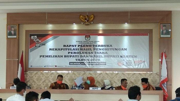 Masuki Waktu Istirahat, Rekapitulasi Pilkada Klaten Rampung 16 Kecamatan