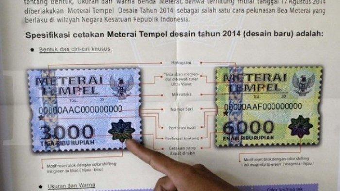 Materai Rp 10.000 Mulai Berlaku Awal Tahun Ini, Dokumen Bermaterai Menjadi Rp 5 Juta