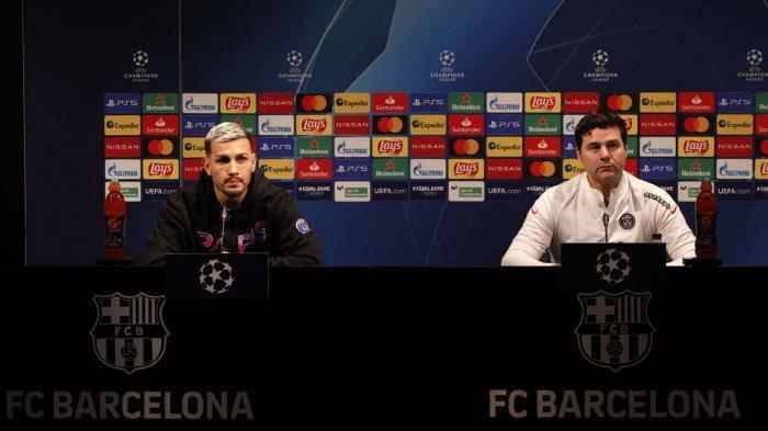 Pelatih PSG Mauricio Pochettino saat konferensi pers