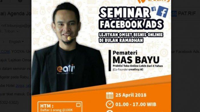 Melejitkan Omset Bisnis online dalam Seminar Facebook Ads