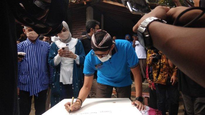 Kunjungi Desa Wisata Pentingsari,Sandiaga Uno Gaungkan Semangat Kebangkitan Ekonomi Nasional