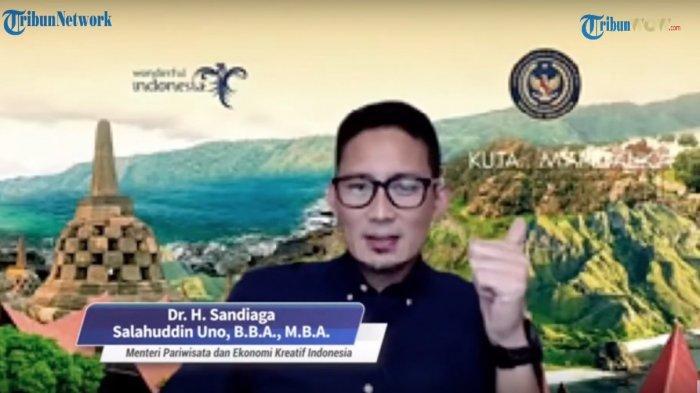 Menparekraf Sandiaga Uno Puji Kualitas Ekonomi Kreatif di Kabupaten Trenggalek, Kepincut Pantainya