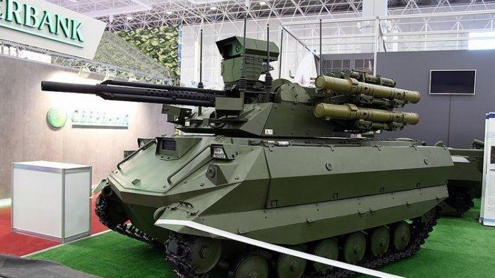 Militer Rusia Segera Operasikan Uran-9, Tank Robot Bersenjata Rudal Antitank Ataka dan Penyembur Api