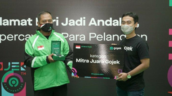 Mitra Gojek Asal Bantul DI Yogyakarta Raih Penghargaan Mitra Juara Gojek 2020