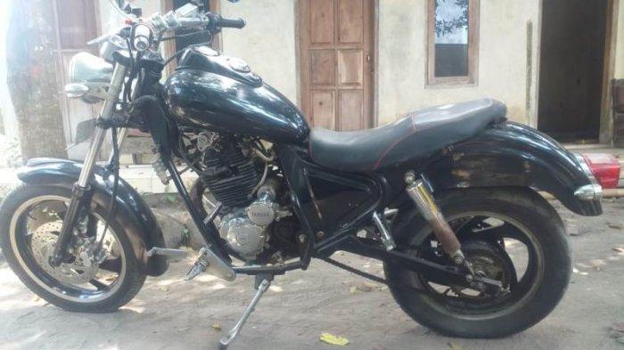 Modifikasi Yamaha Scorpio Bergaya Scrambler, Berkarakter Kuat Berkat Rangka Kaisar
