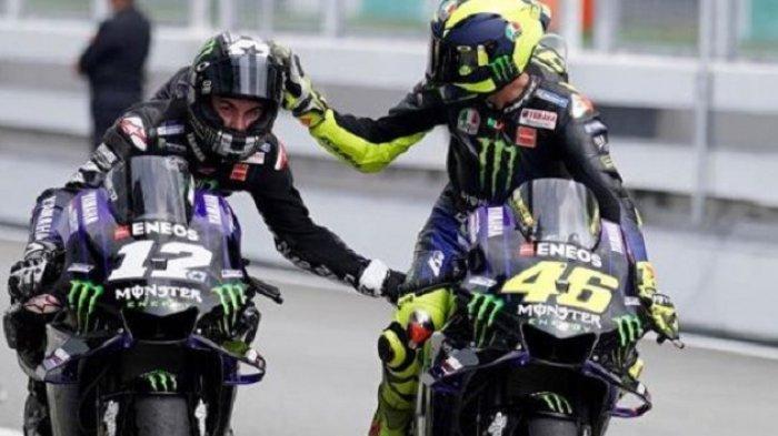 MotoGP 2020 - Komentar Valentino Rossi SoalLompatan Vinales dari Motornya di Race Moto GP Styria