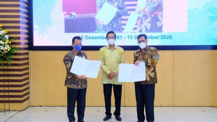 Bank BPD DIY dengan PT Jogjasolo Marga Makmur melakukan penandatanganan MoU terkait proyek pembangunan jalan tol Jogja-Solo, Selasa (15/12/2020).