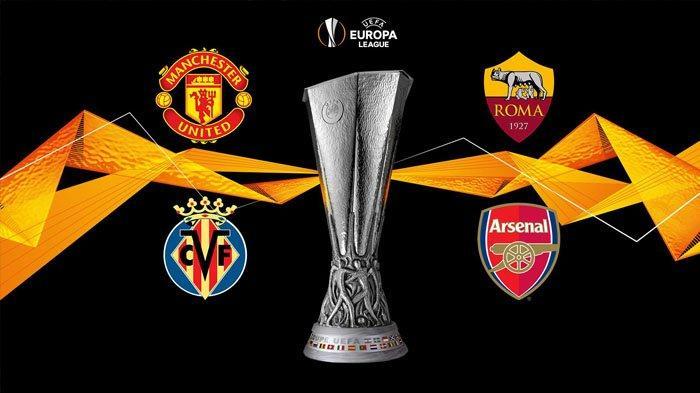 Channel TV Laga Semi Final Liga Eropa (Liga Europa) di SCTV Vidio MU vs Roma & Villarreal vs Arsenal