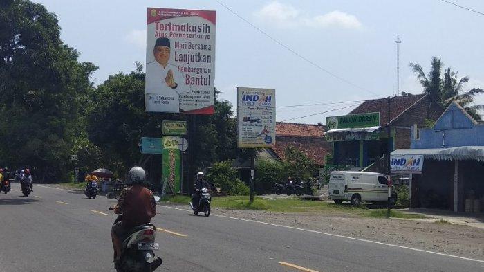 Baliho Milik BKAD Tak Berizin, Satpol-PP Bantul Belum Berani Lepas