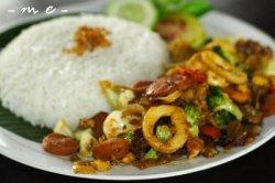 Nasi geundheng menu dar Kedai Rumah Pohon