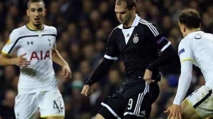 Nemanja Kojic kala memperkuat Partizan Belgrade melawan Tottenham Hotspur.