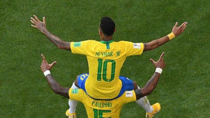 Hasil Piala Dunia: Neymar dan Firmino Bawa Brasil Melaju, Bekuk Meksiko 2-0