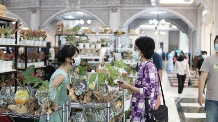 Suasana Plant Festival yang diadakan mulai 25 Juni hingga 5 Juli 2021 di Jogja City Mall.