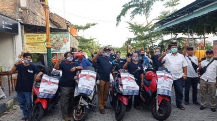 Puluhan Relawan Gelar Touring Kampanyekan One-Fajri di Pilkada Klaten, Ini Pesan One Krisnata