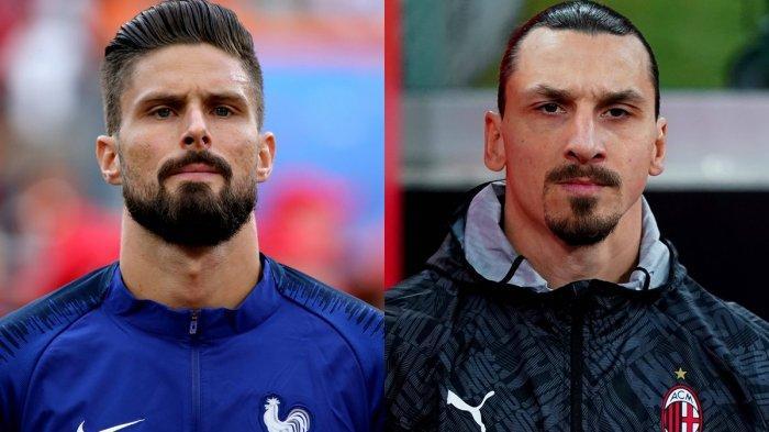 Olivier Giroud dan Zlatan Ibrahimovic