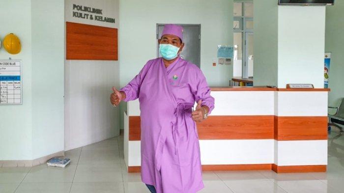 Bakal Calon Bupati Klaten, One Krisnata, menjalani pemeriksaan kesehatan di RSUP dr Soeradji Tirtonegoro, Klaten, Selasa (15/9/2020).