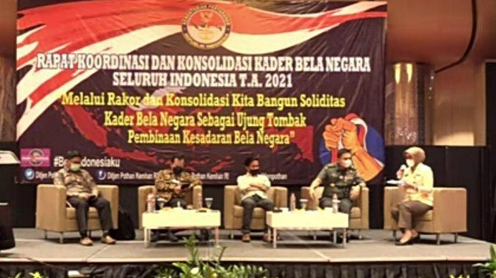 Ditjen Pothan Kemhan Gelar Rakor dan Konsolidasi Kader Bela Negara Seluruh Indonesia TA 2021