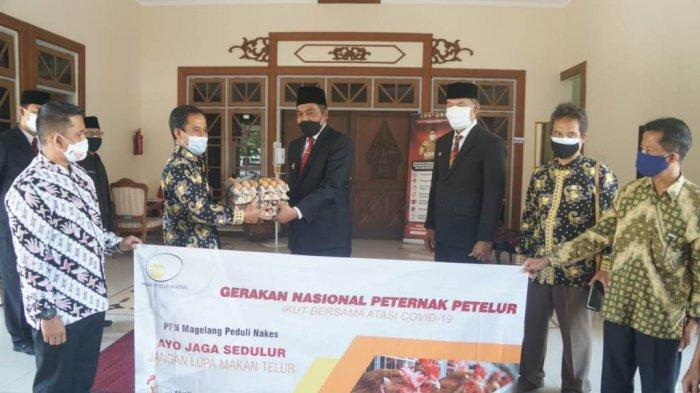Paguyuban PPN Kabupaten Magelang Berikan Bantuan 650 Kg Telur untuk Nakes