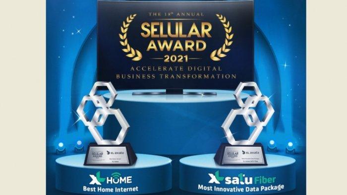 """Paket Inovatif """"XL SATU Fiber"""" Raih Selular Awards 2021"""