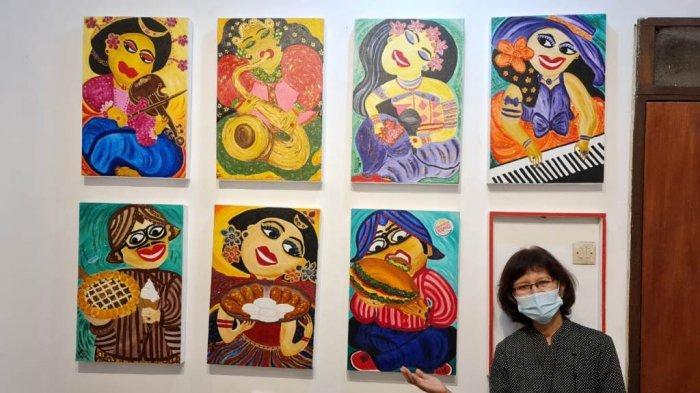 Unik, Ibu Rumah Tangga Beserta Empat Anaknya Gelar Pameran Seni, Ini Dia Kisahnya