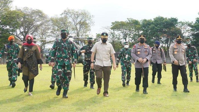 Ini Pesan Panglima TNI dan Kapolri saat Meninjau Penanganan COVID-19 di Klaten