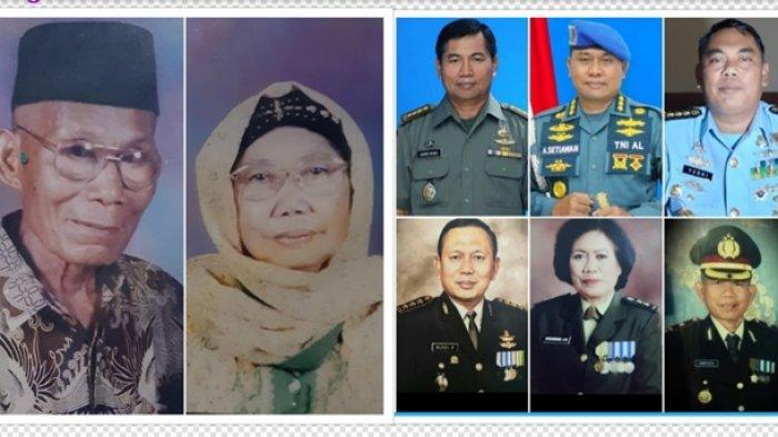 Kisah Sepasang Petani Asal Tegal Jawa Tengah, 4 Dari 9 Anaknya Berpangkat Kolonel TNI